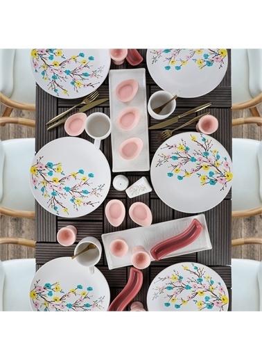 Keramika İlkbahar Tomurcuk Kahvaltı Takımı 31 Parça 6 Kişilik Renkli